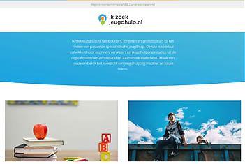 Printscreen ikzoekjeugdhulp.nl regio Amsterdam-Amstelland & Zaanstreek & Waterland)