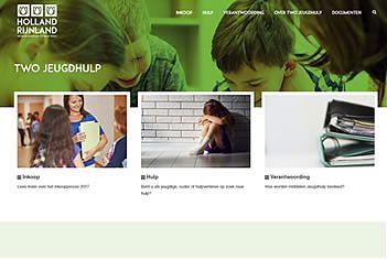 Printscreen website JeugdHulpHollandRijnland.nl