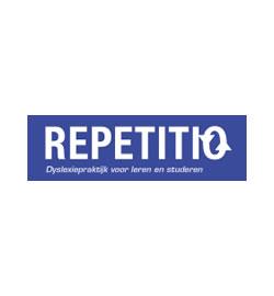LOGO Dyslexiepraktijk Repetitio | Karin Jahromi