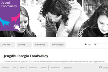 Printscreen website jeugdzorg regio FoodValley